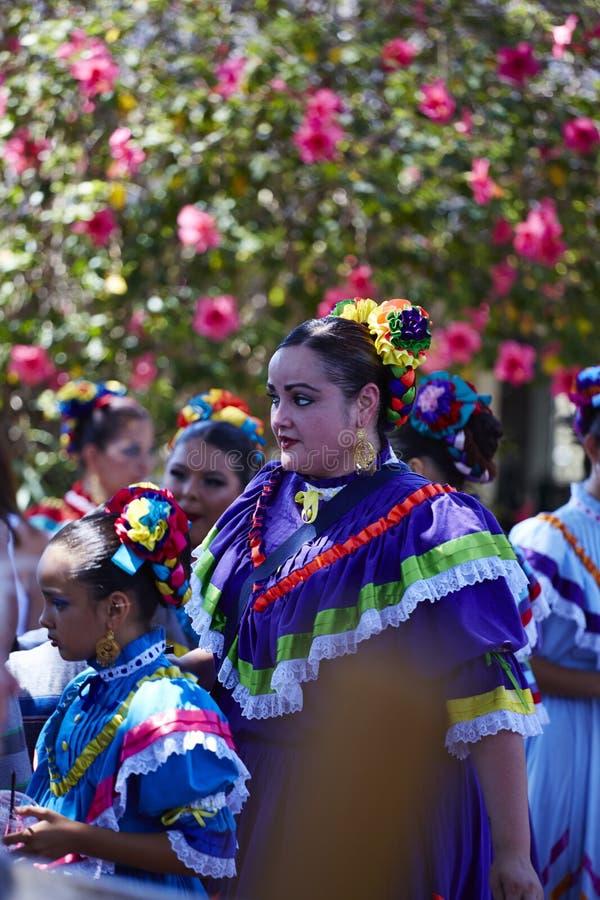 Dame Amerikaans-Mexicaan royalty-vrije stock afbeeldingen