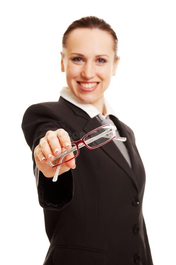 dame amicale en verre photo libre de droits