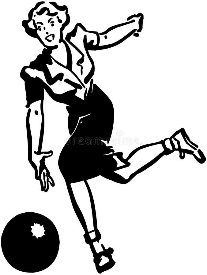 Dame Bowler royalty-vrije illustratie