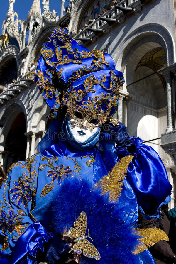 Dame in Carnaval kostuum stock fotografie