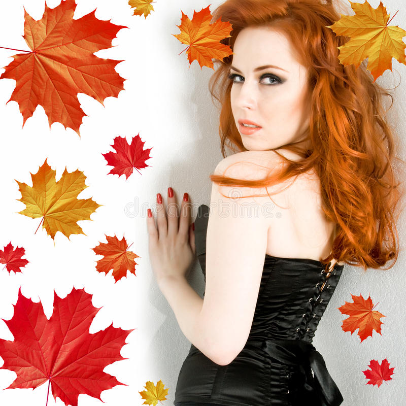 dame d'automne photographie stock libre de droits
