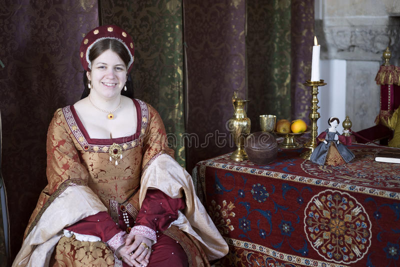 Dame d'honneur médiévale - Stirling Castle photographie stock libre de droits