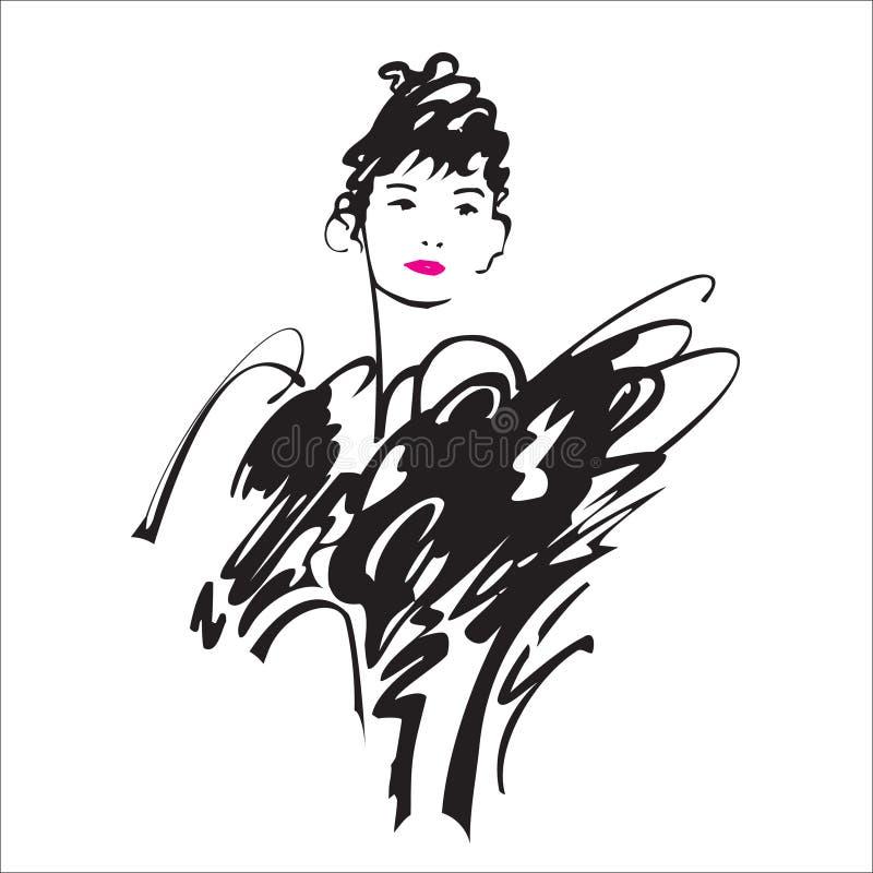 Dame de beauté illustration libre de droits