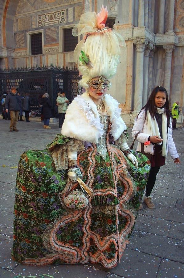 Dame de carnaval de Venise images stock