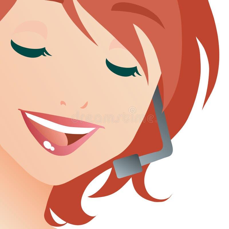 Dame de centre d'attention téléphonique illustration stock