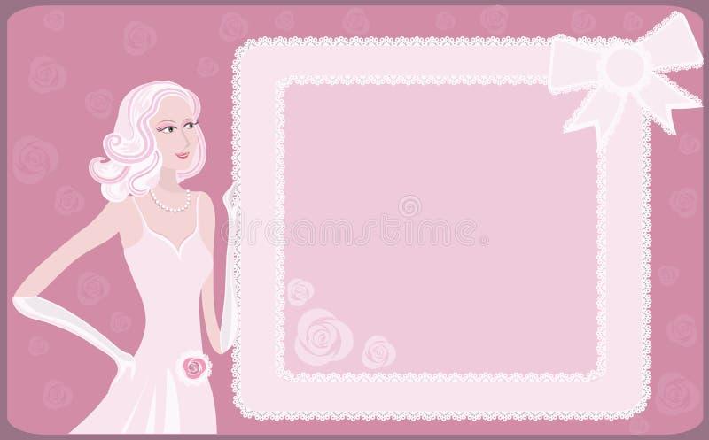 Dame de charme   illustration stock