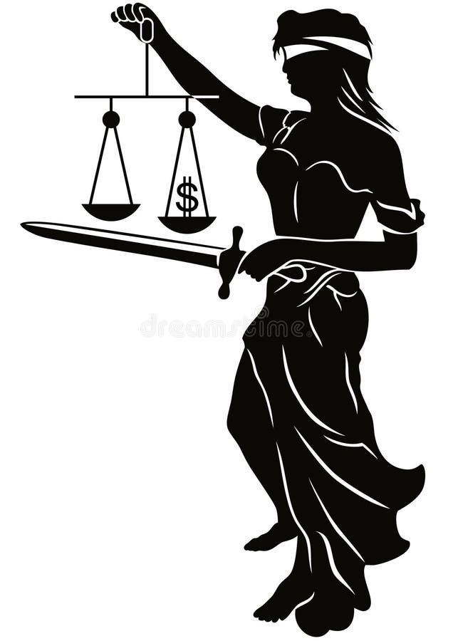 dame de justice illustration de vecteur