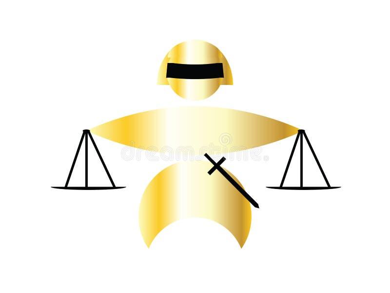 dame de justice illustration libre de droits