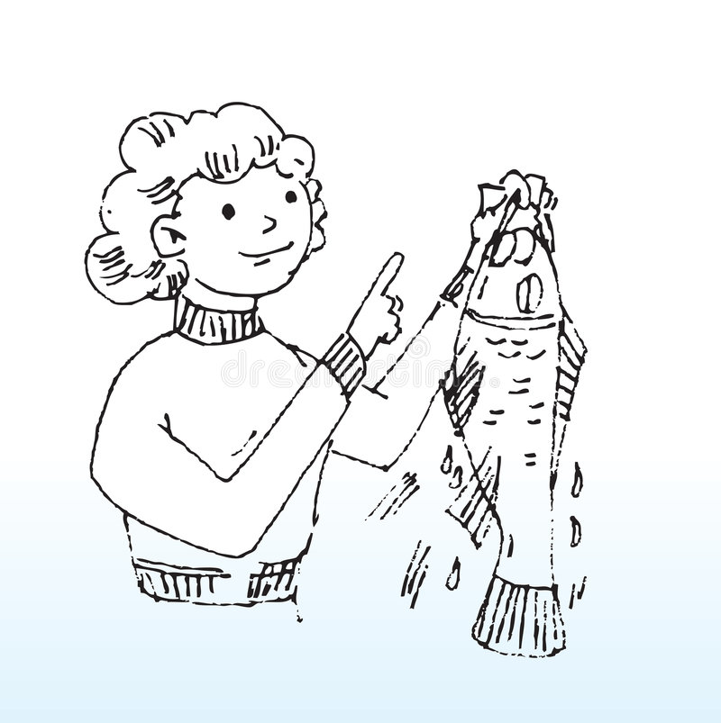 dame de poissons illustration de vecteur