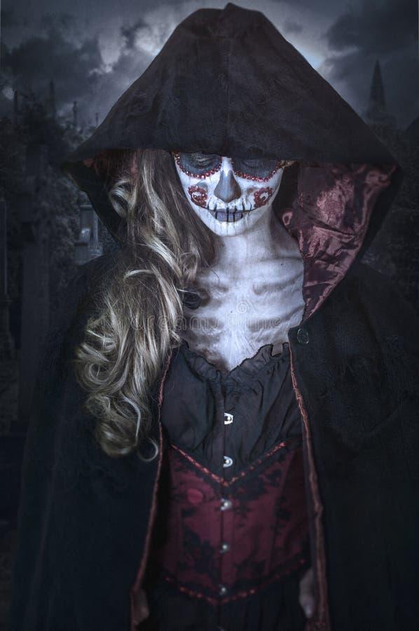 Dame Death Portrait stockfotografie