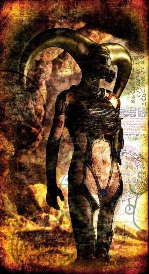 Dame foncée gothique illustration libre de droits