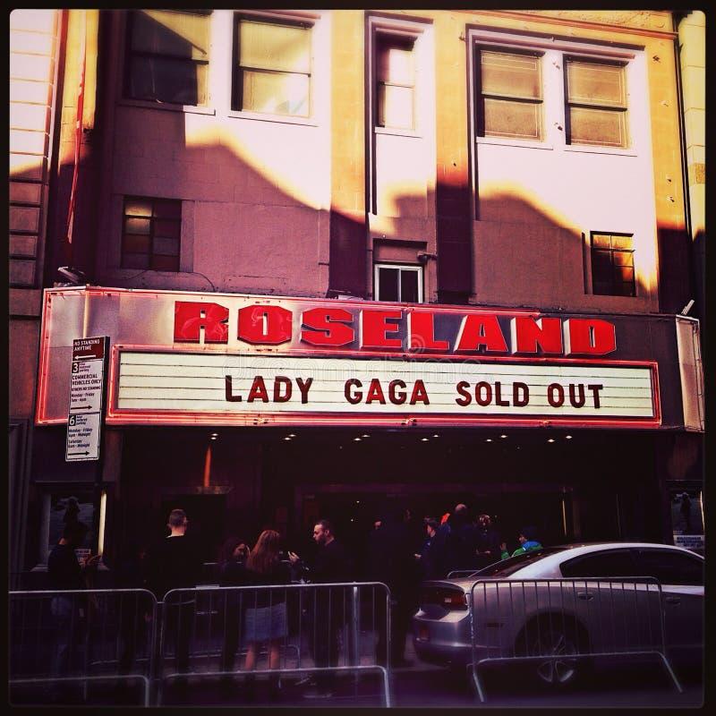 Dame Gaga Roseland Exterior Sign royalty-vrije stock foto's
