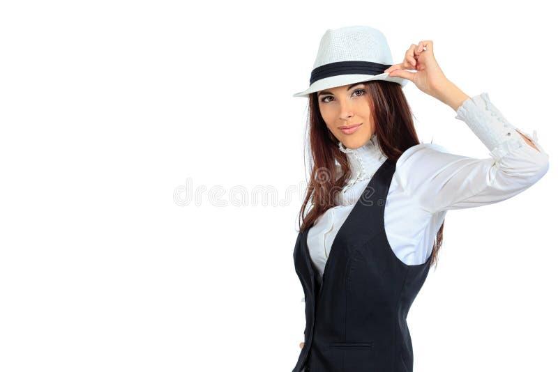 Dame im Hut lizenzfreies stockfoto