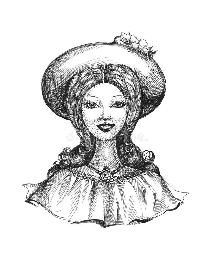 Dame im Hut vektor abbildung