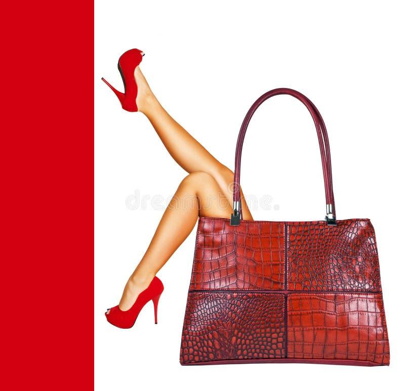 Dame im Rot. stockfotografie