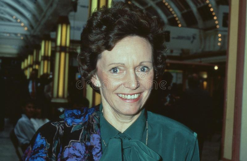 Dame Joan Seccombe. Vice Chairman of the Conservative party, attends the party conference in Blackpool, England on October 10, 1989. She was made a life peer stock photo