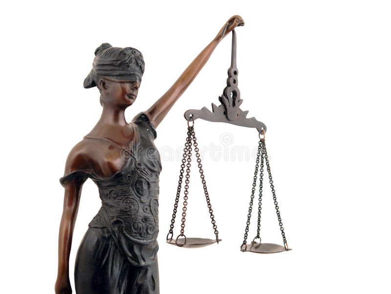Dame Justice lizenzfreie stockbilder