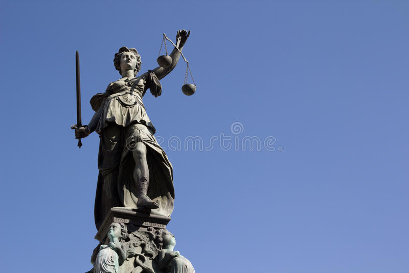 Dame Justice stock foto's