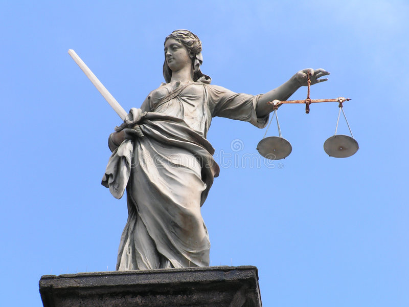 Dame Justice royalty-vrije stock foto