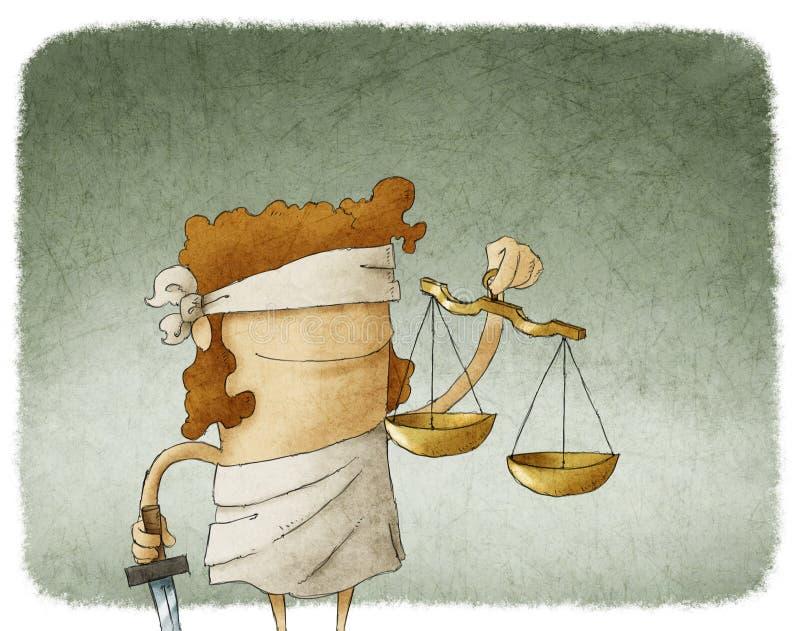 Dame Justice stock illustratie