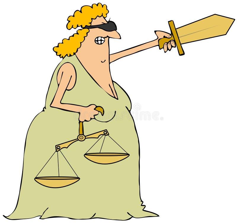 Dame Justice lizenzfreie abbildung