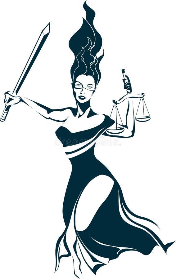 Dame Justice lizenzfreies stockbild