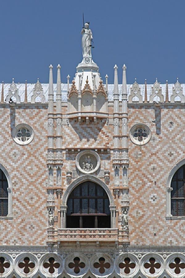Dame Justice Palace Venice stock afbeeldingen