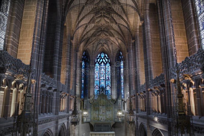 Dame Kapelle innerhalb Liverpools C stockbilder