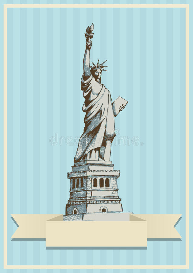 Dame Liberty royalty-vrije illustratie