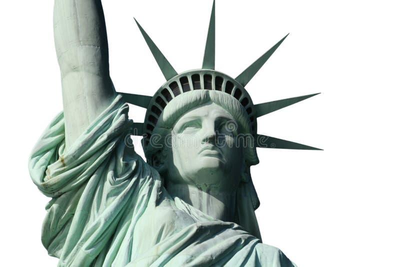 Dame Liberty op Wit stock afbeeldingen