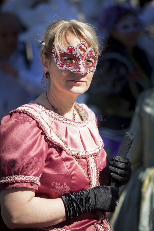 Dame in masker royalty-vrije stock foto