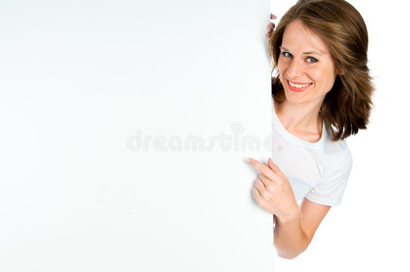 Dame met spatie stock foto