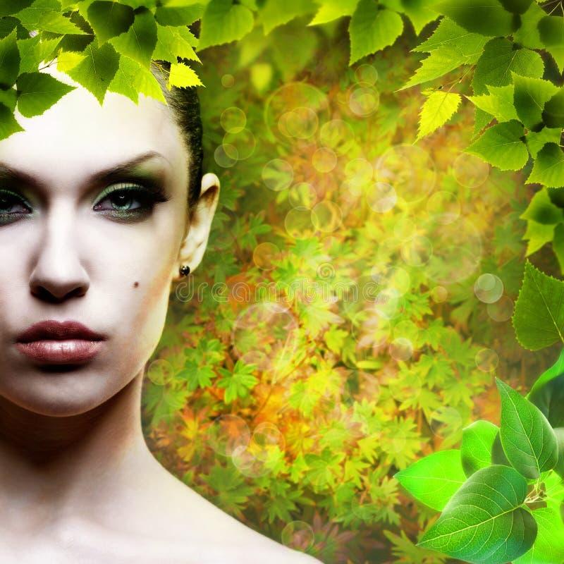 Dame Nature. stockbild
