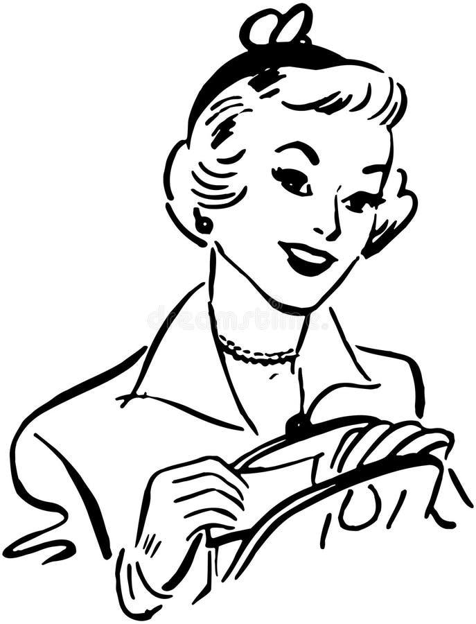 Dame Opening Handbag stock illustratie