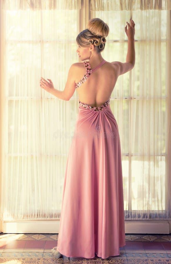 Dame In Pink royalty-vrije stock fotografie