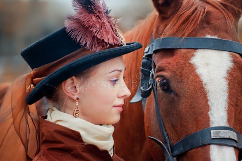 Dame Portrait royalty-vrije stock afbeelding