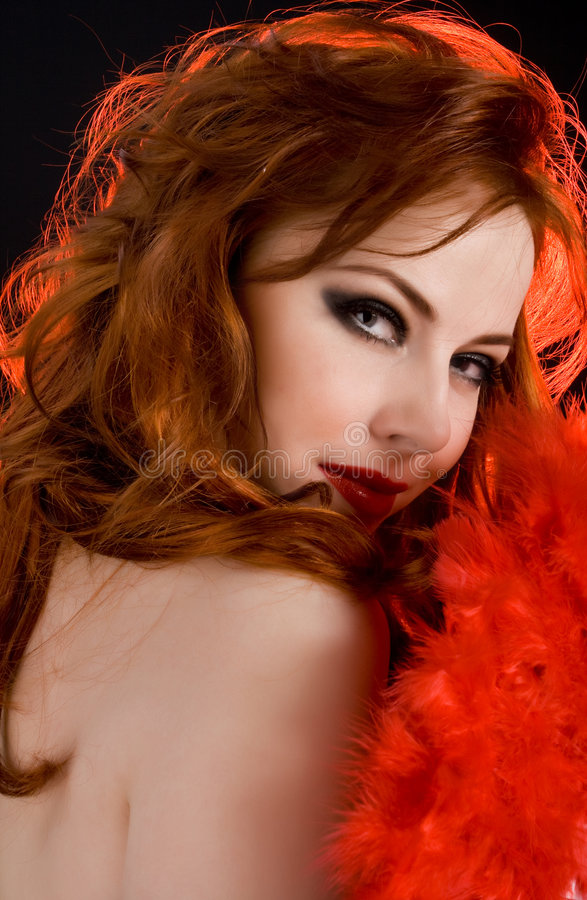 Dame in rood royalty-vrije stock afbeeldingen