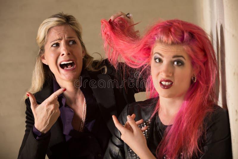 Dame Shocked About Hairdo royalty-vrije stock fotografie