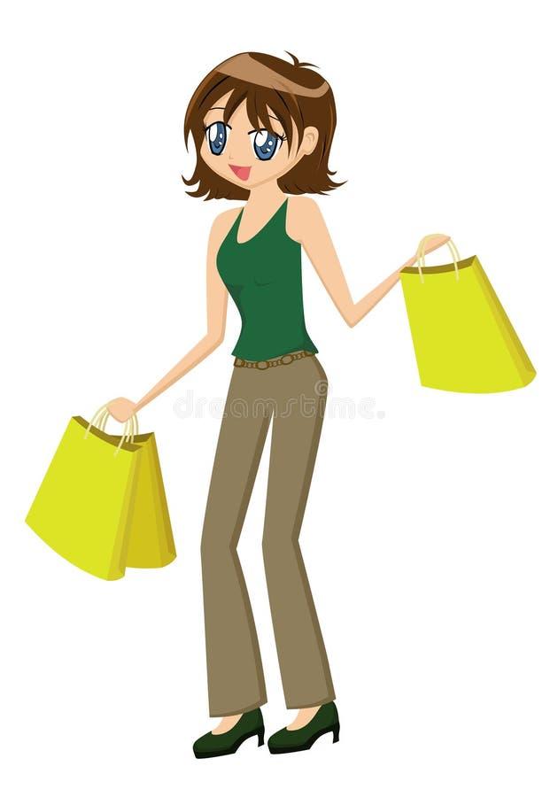 Dame Shopping vector illustratie
