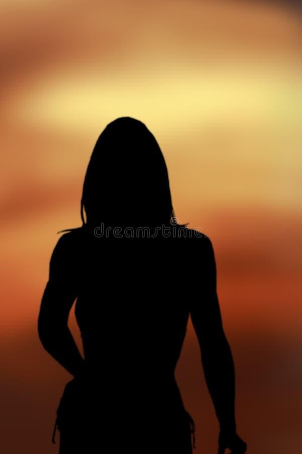 Download Dame Silhouett stock afbeelding. Afbeelding bestaande uit geel - 42295