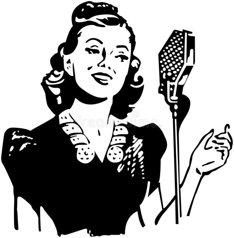 Dame Singer stock illustratie