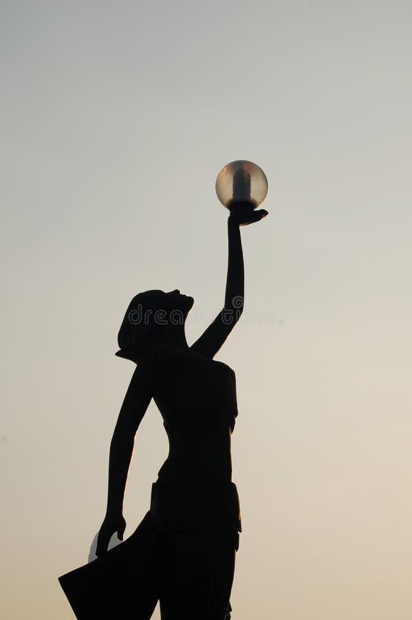 Dame Statue stockfotografie