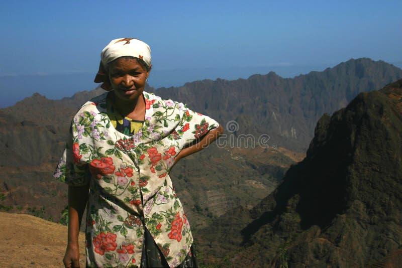 Dame van de bergen stock afbeeldingen