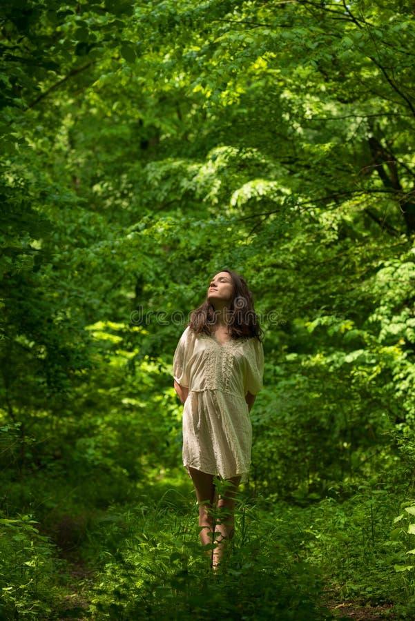 Dame van het bos royalty-vrije stock foto's