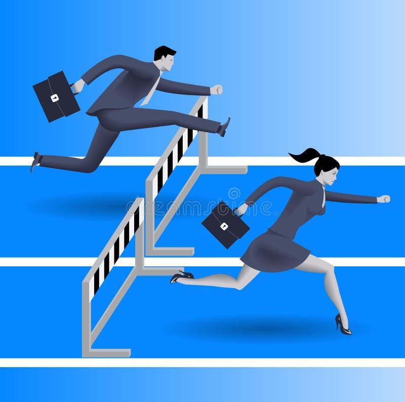Damen können konkurrieren Geschäftskonzept vektor abbildung