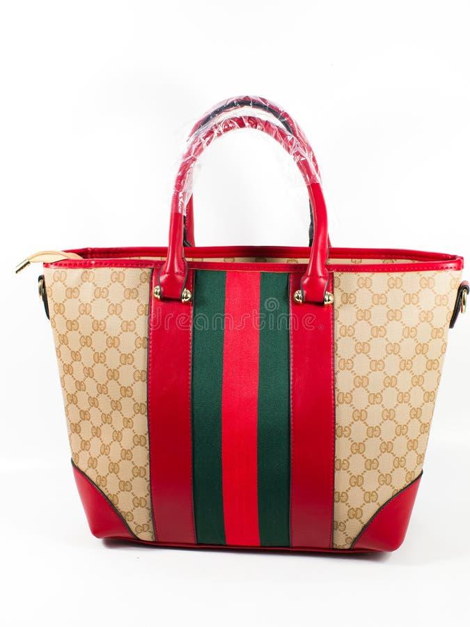 Damenlederhandtasche stockbild
