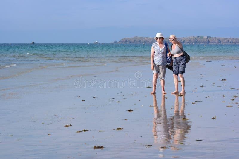 Dames bij het strand stock afbeelding