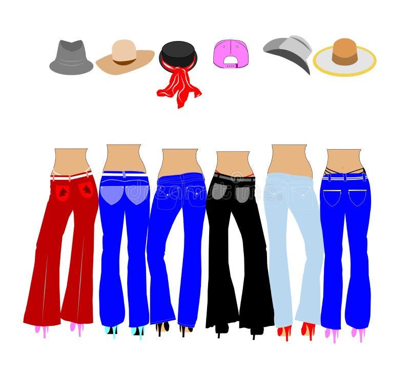 Dames dans des jeans illustration libre de droits