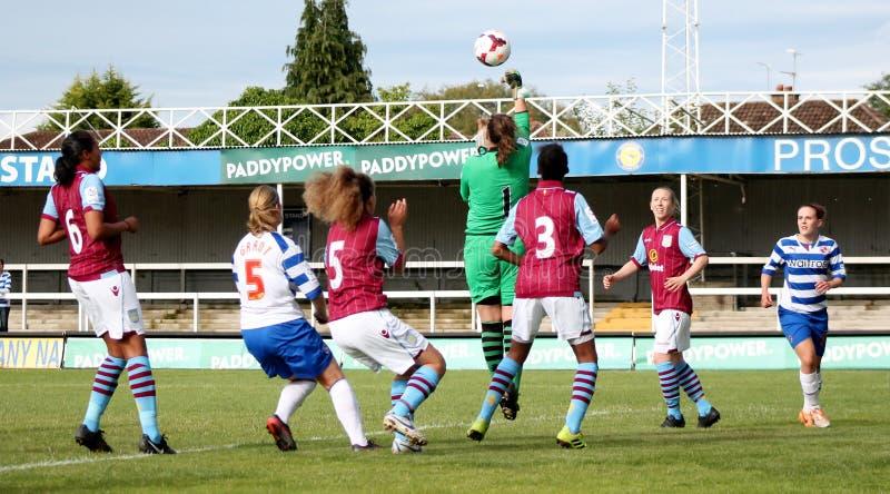 Dames des femmes v Aston Villa de la lecture FC images libres de droits