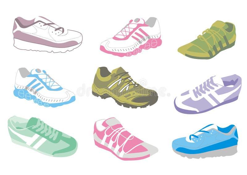 Dames die schoenen opleiden royalty-vrije illustratie